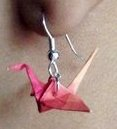 Origami Crane Earring by rachygirl5404