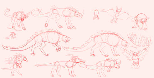 Monster/Creature sketches(WIP)