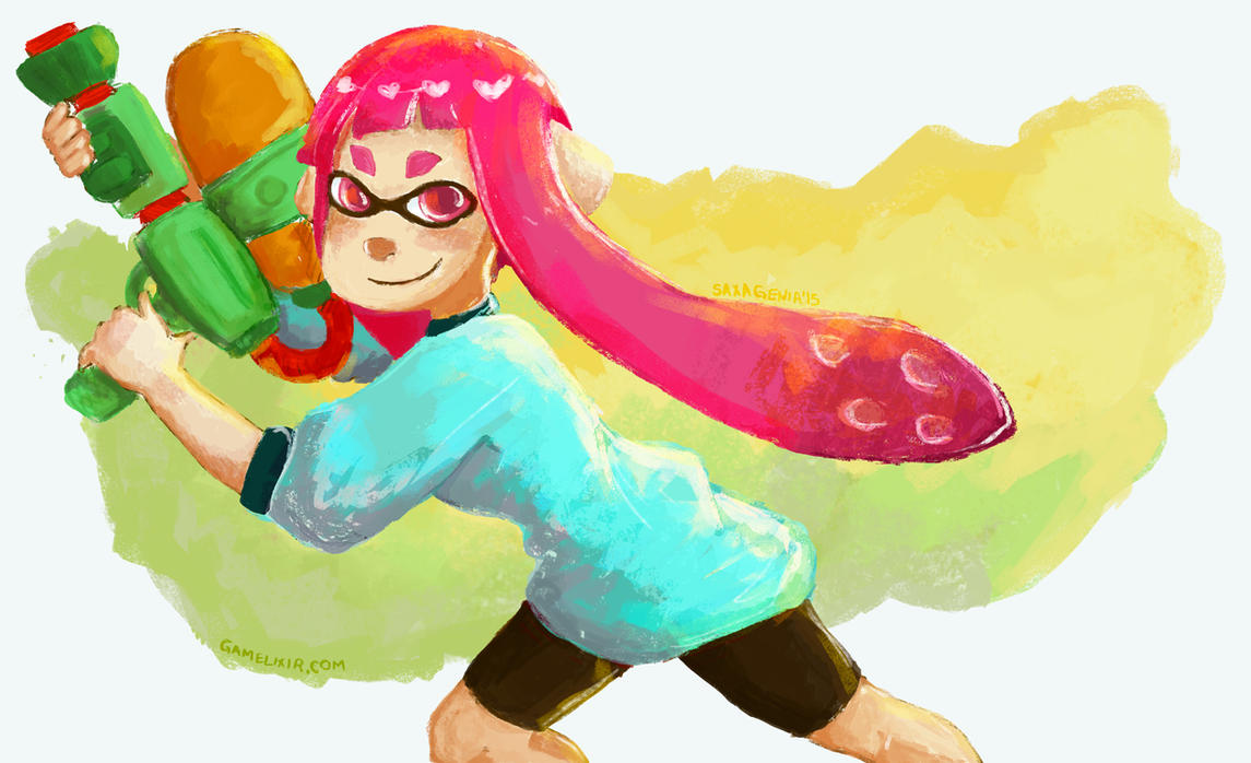 Splatoon by saxagenia