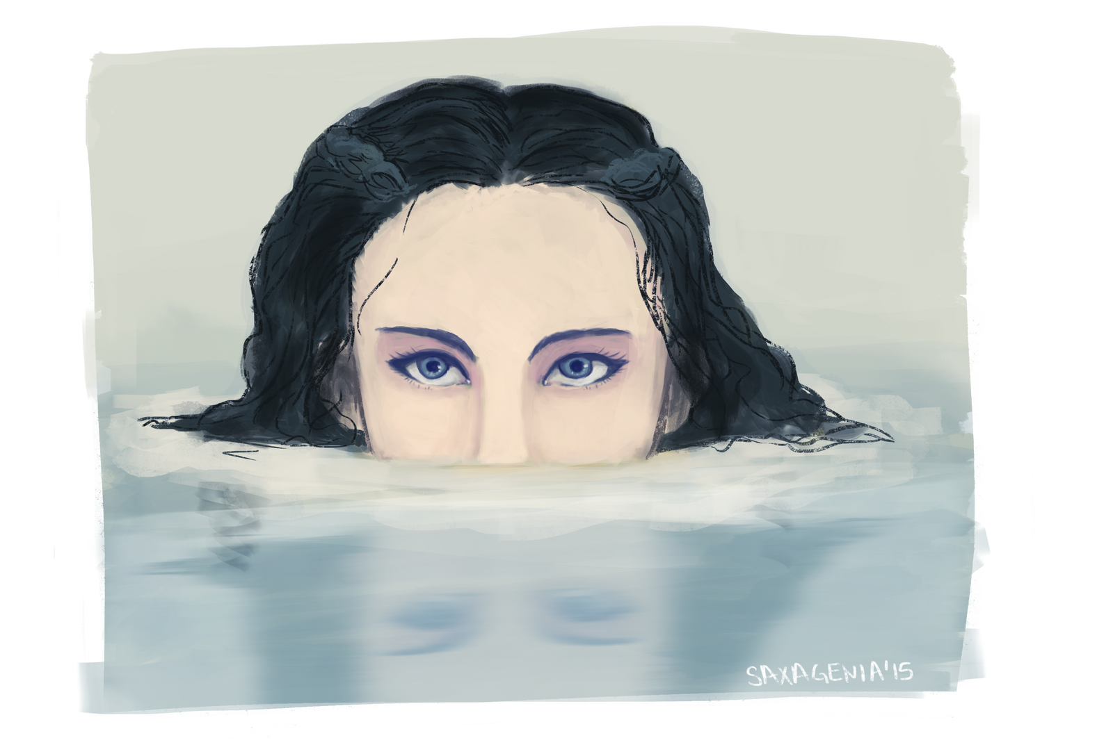 Lady in the Water by saxagenia