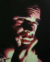 Self-Portrait in Oil by egoodwinart