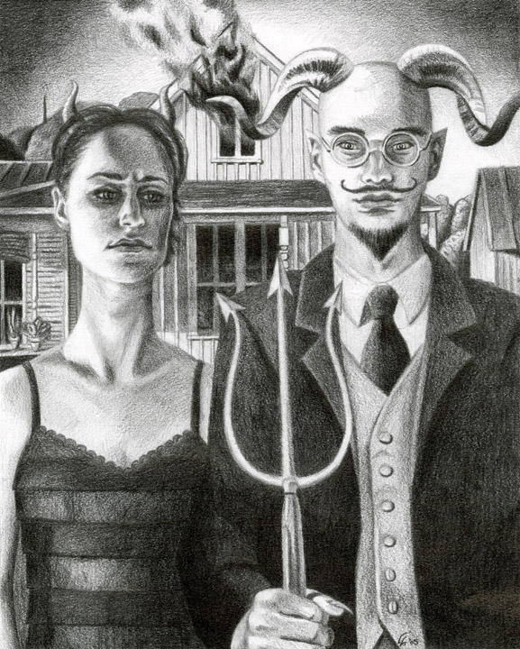 Hellistic American Gothic By Egoodwinart