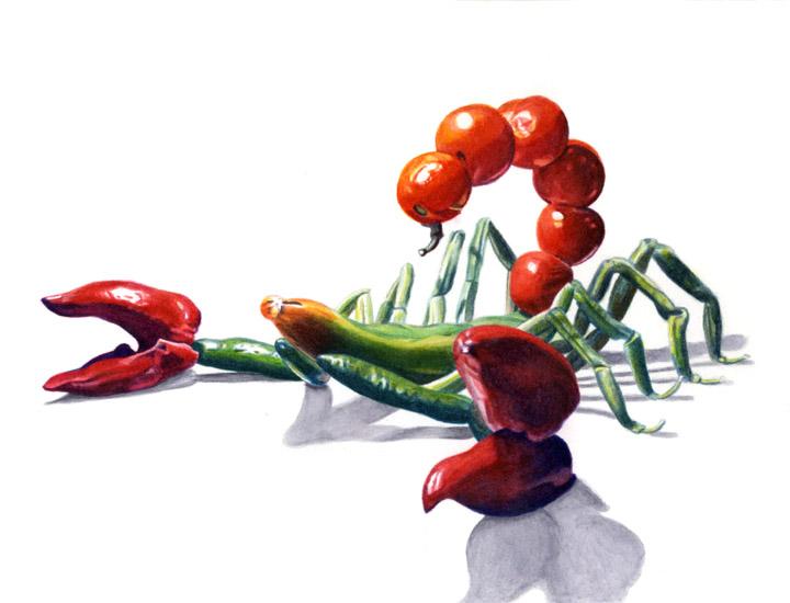 Vegetable Scorpion by egoodwinart