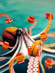 Summerterm Octopus by egoodwinart