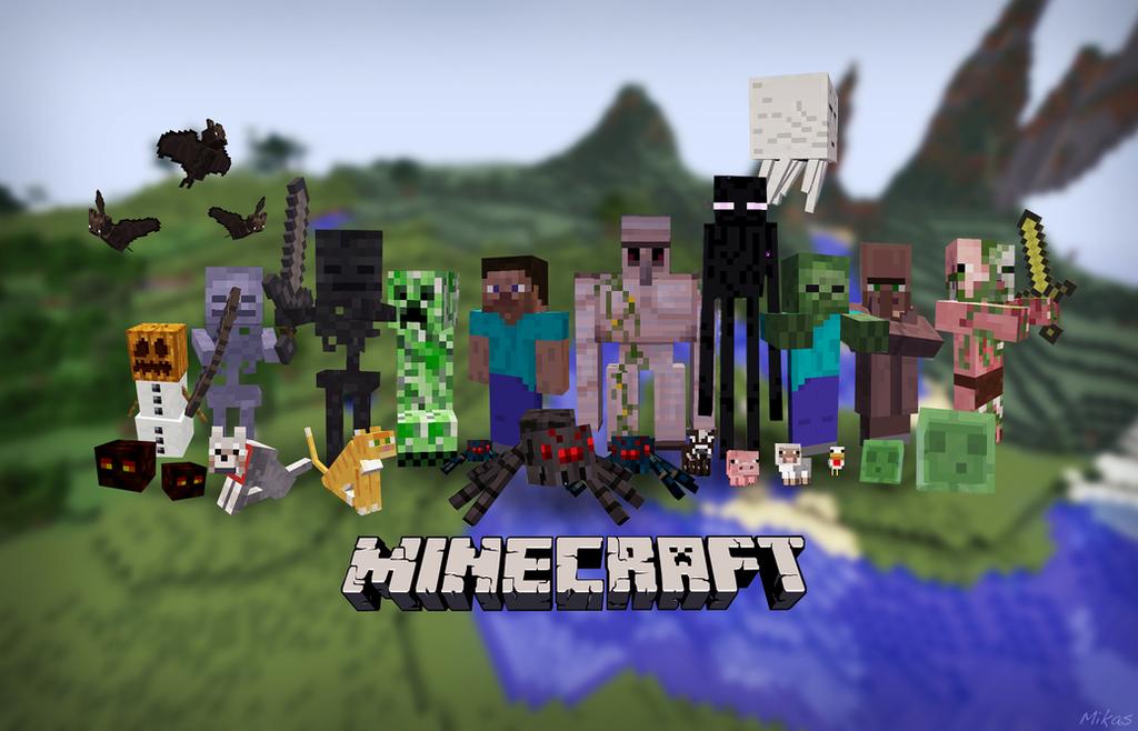 Minecraft wallpaper v2 updated by mikasda