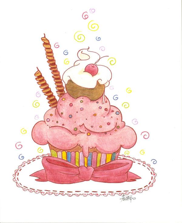 Birthday Cupcake by Black-amethyst-Rose on DeviantArt