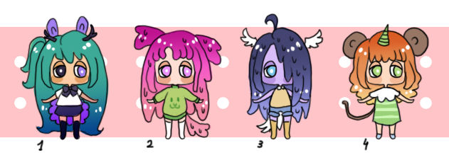 Mini Cheap Adopts 4 | 100Pts Or 1.50USD | OPEN