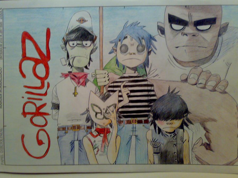 Кто рисовал gorillaz