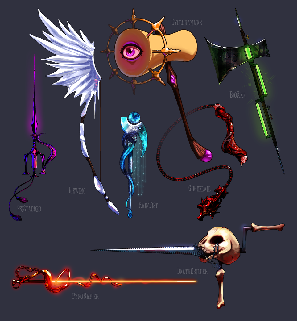 Weapons - Random 001 by IntroducingEmy on DeviantArt