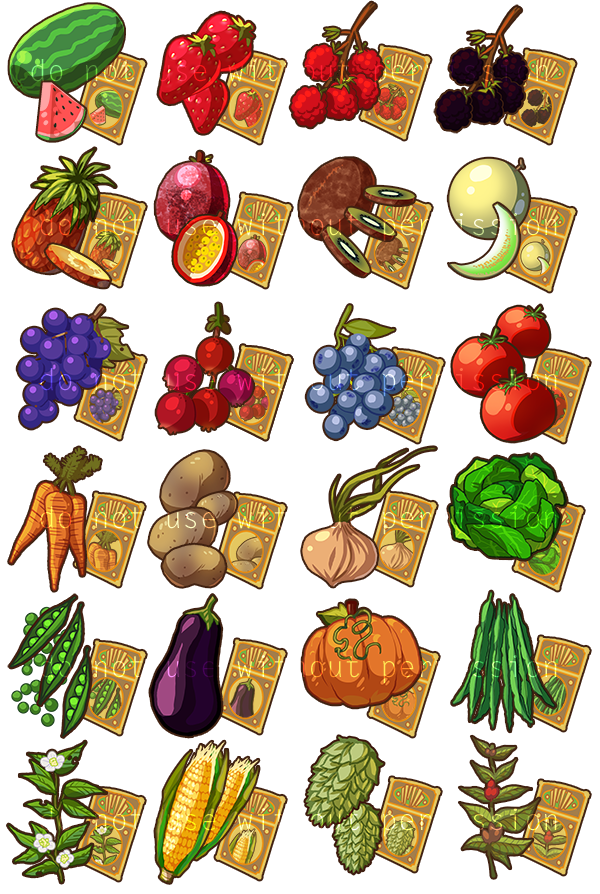 game items crops by introducingemy on deviantart