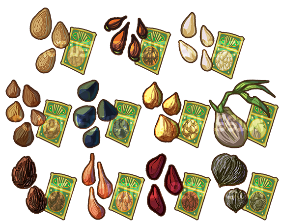 Game Items - Tree Seeds by IntroducingEmy on DeviantArt