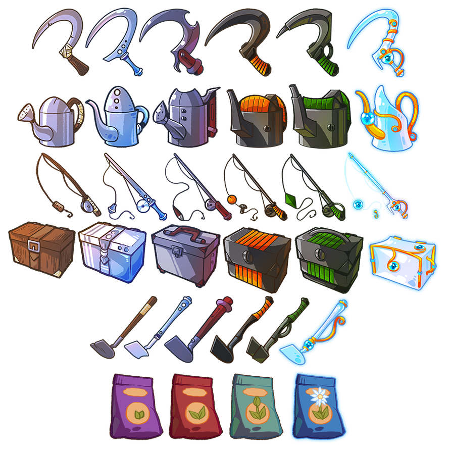Game Items - Tools by IntroducingEmy on DeviantArt