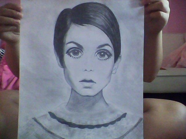 Drawing Of Twiggy by Loveylulu13