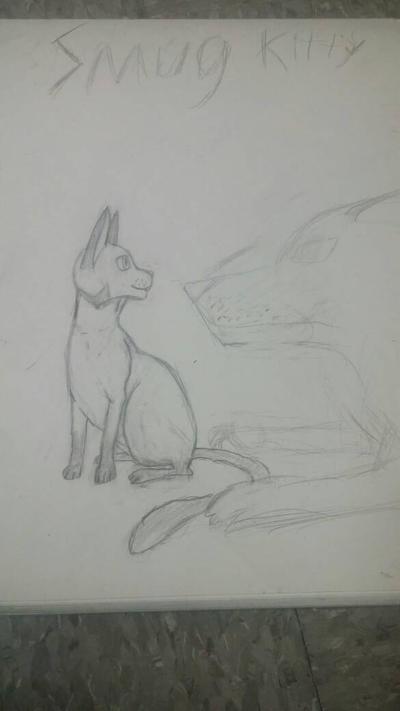 Smug kitty by Raygcraft