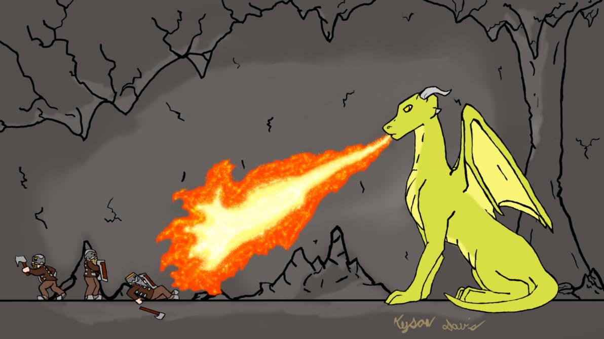 Dragons Fire Orange by Raygcraft