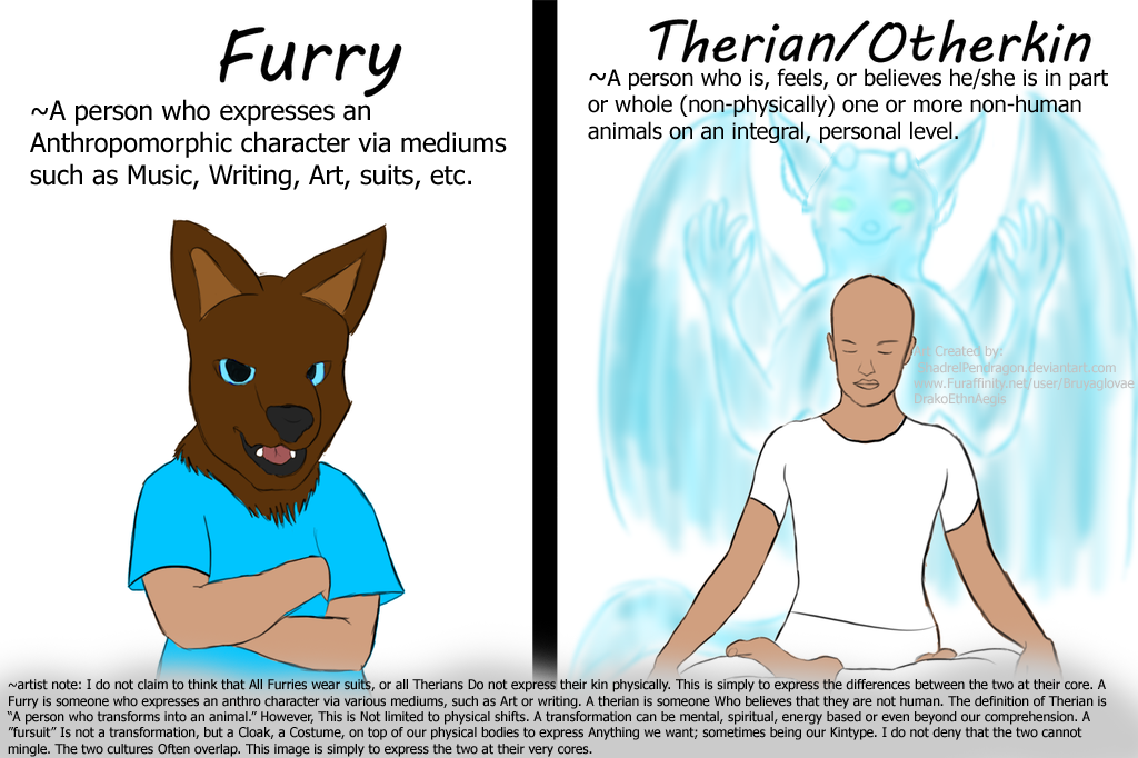 Furry vs therian clarification notes by devoutnumelran on deviantart