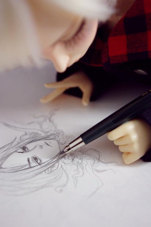 Darko sketching by tenaku