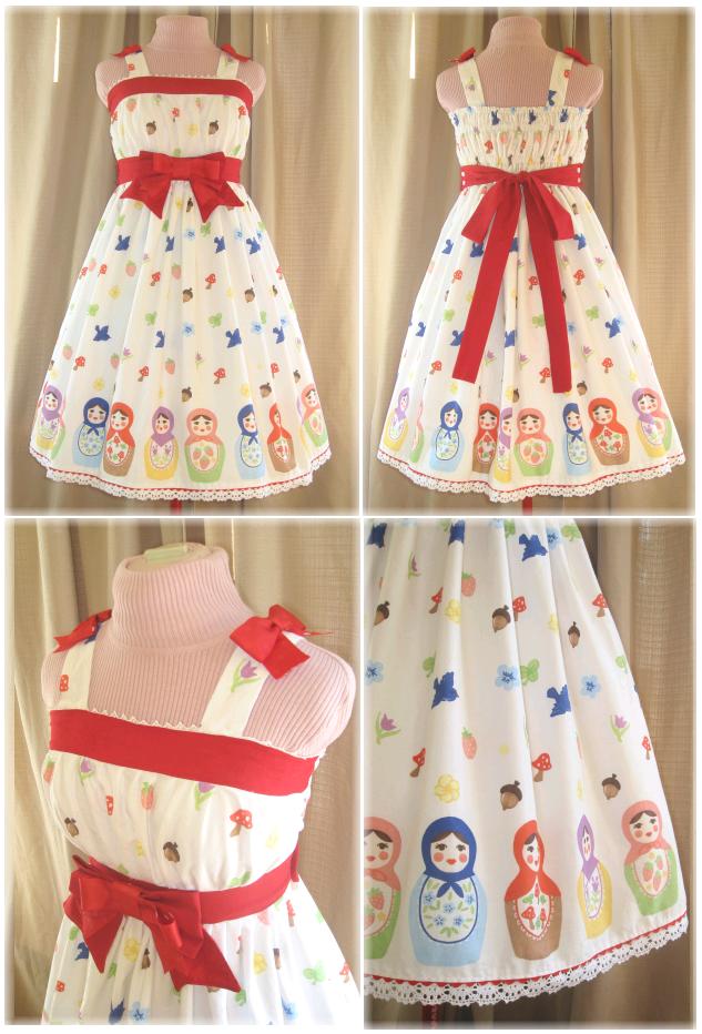 Sweet Matryoshka Jumper Skirt by sakurafairy