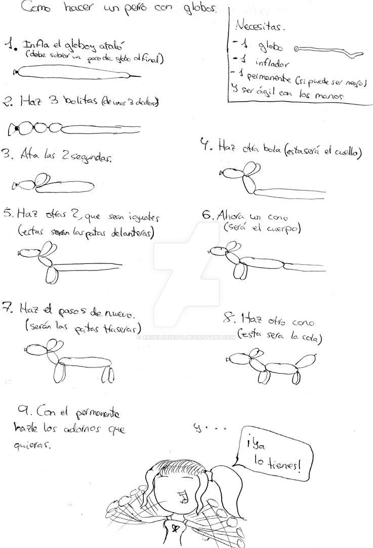 Como hacer un perro con globos by Angelus19344