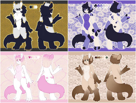 Custom Design Commission: Playing Card Quintuplets