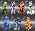 7 Deadly Sins Adoptables Auction [OPEN - 5 LEFT] by TheRabbitFollower