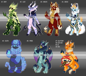 [OPEN - 1 LEFT] 7 Deadly Sins Adoptables Auction by TheRabbitFollower