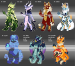 7 Deadly Sins Adoptables Auction [OPEN - 2 LEFT] by TheRabbitFollower