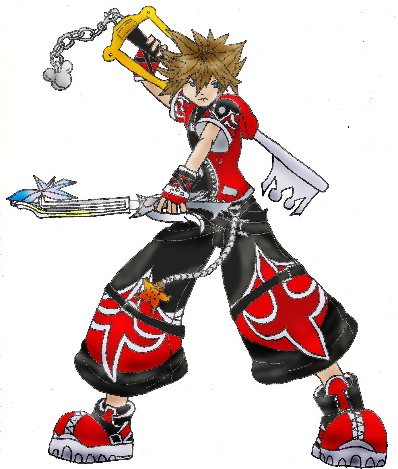 Kingdom Hearts 2-Valor Form by arvalis on DeviantArt
