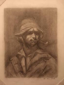 Study of Courbet's self potrait