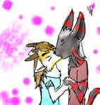 Quinn x Cain kiss