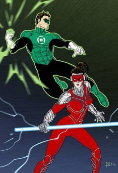 Green Lantern and Manhunter