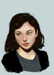 Portrait study by crystaleyes909