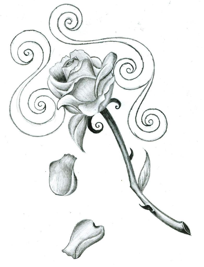 rose tattoo design by bakerzero417 on deviantart. Black Bedroom Furniture Sets. Home Design Ideas