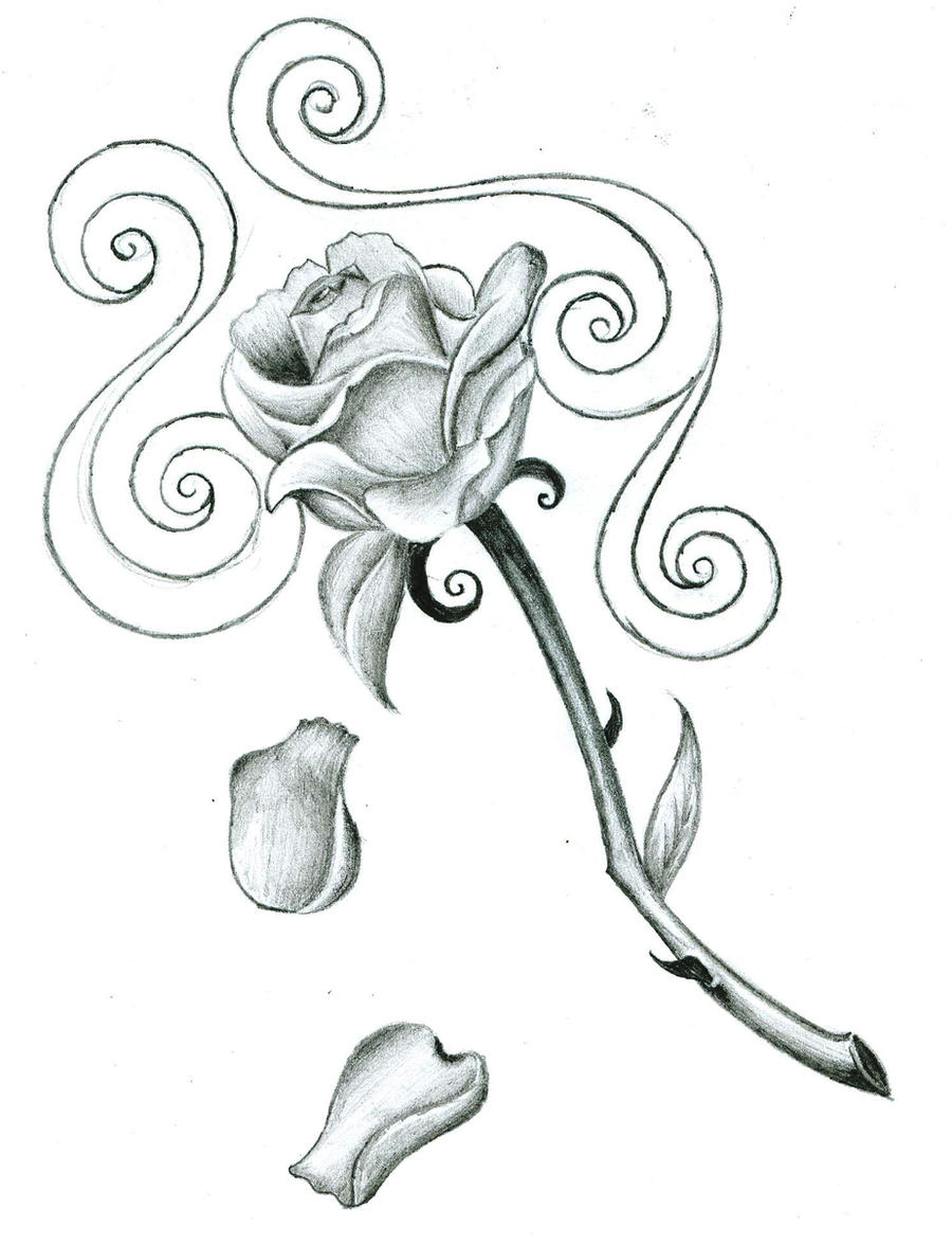 rose tattoo design by