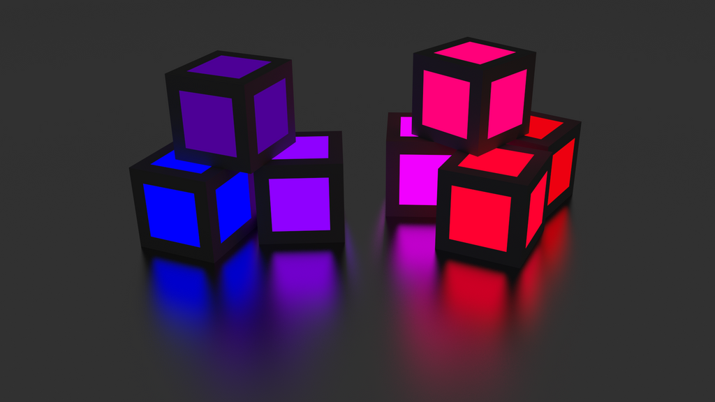 glowing cubes v3 by cubicay on deviantart