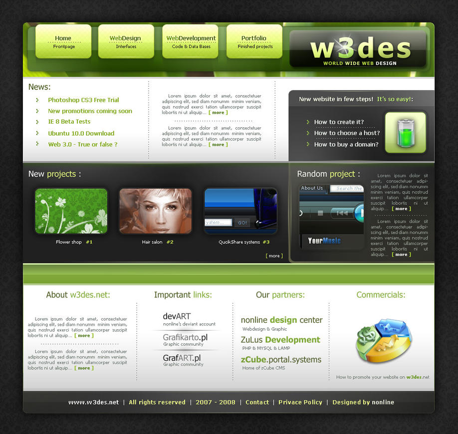 w3des.net second version by nonlin3