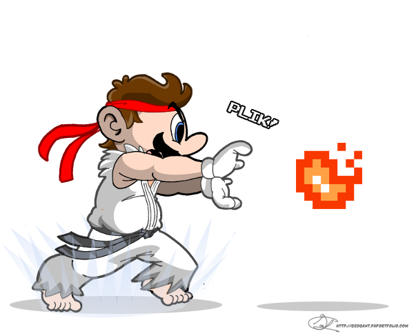 Mario's Hadouken by geogant
