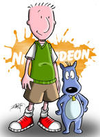 Doug and Porkchop by geogant