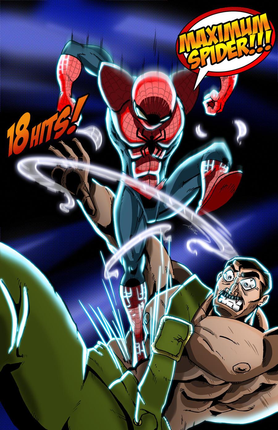 UMVC3 - Spider-Man vs Haggar by geogant