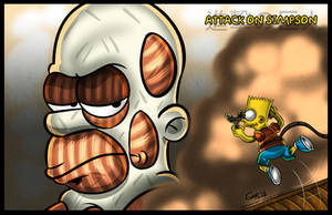 Attack on Simpson by geogant