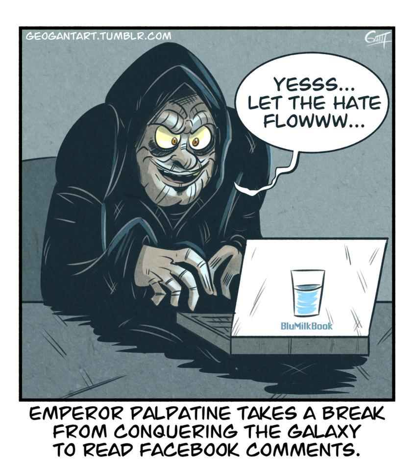 Palpatine checks Facebook by geogant