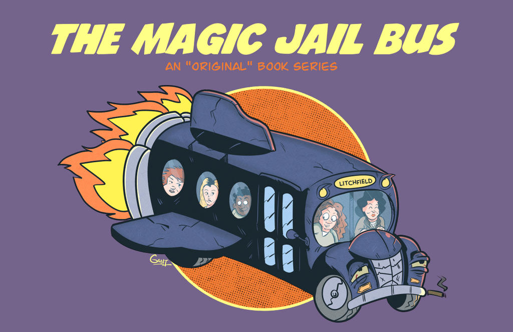 The Magic Jail Bus Mashup Art by geogant