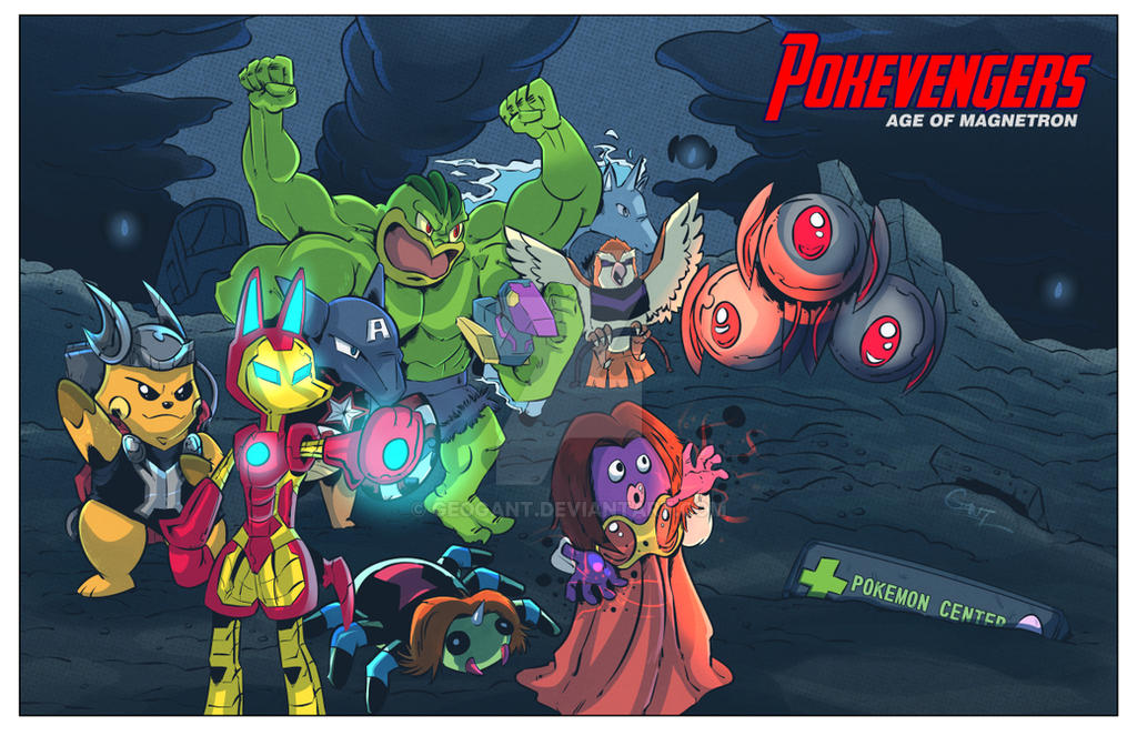 Pokevengers: Age of Magnetron Mashup Art by geogant