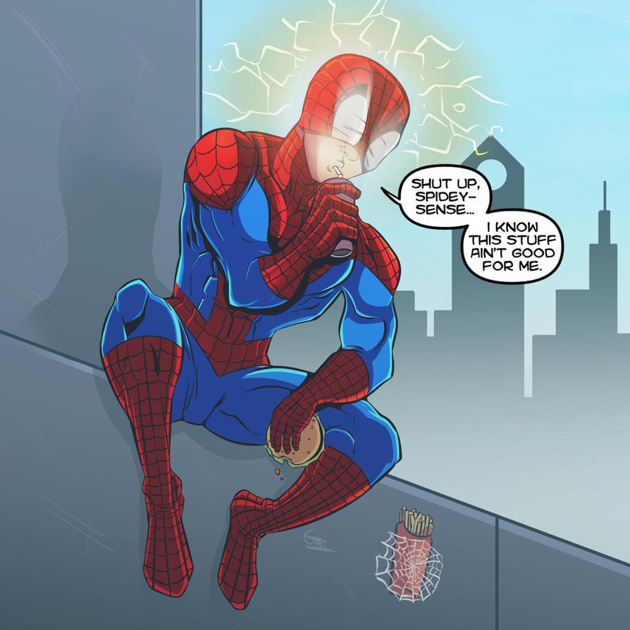 Superheroes gotta eat too. by geogant