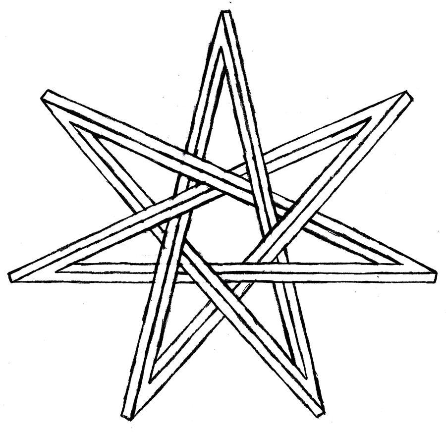 draw 6 point star