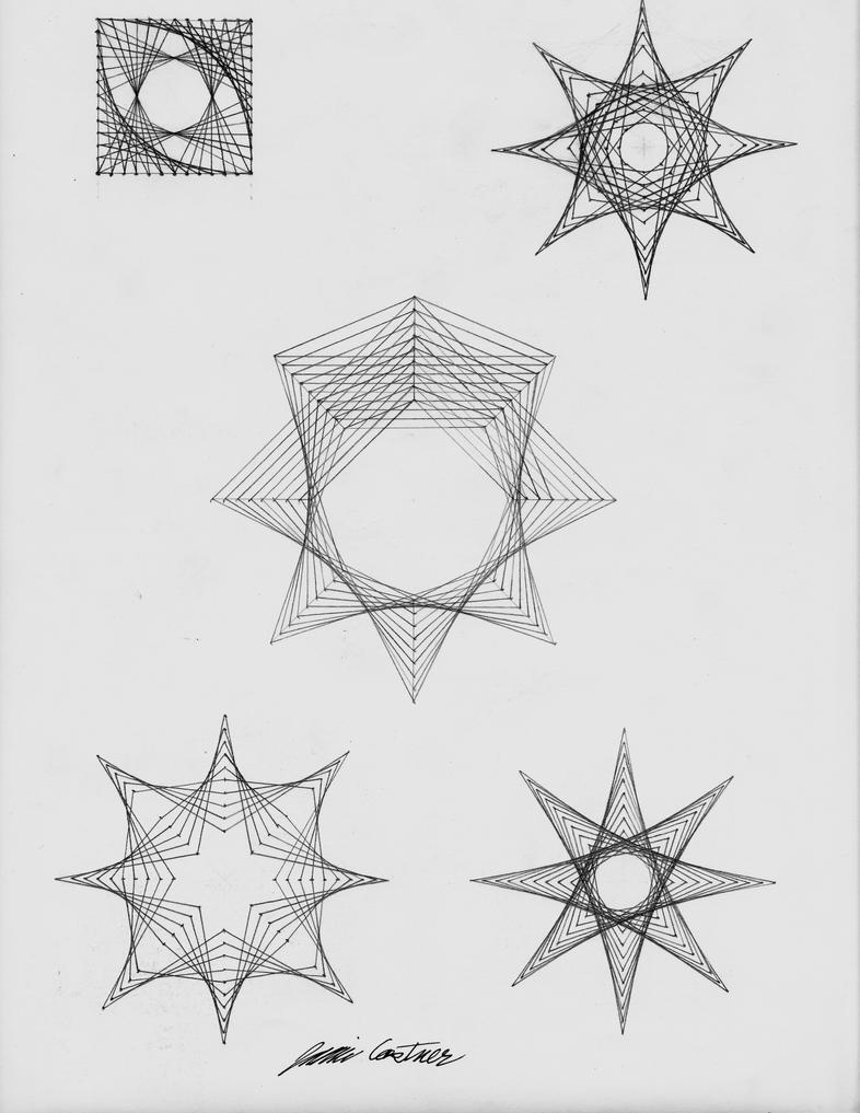 Straight Line Art Drawings : Straight line curves experiment by thecelticpoet on deviantart
