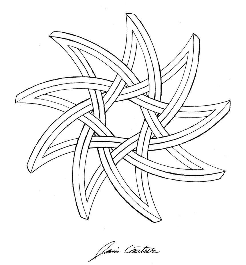 curved nine pointed star by thecelticpoet on deviantart. Black Bedroom Furniture Sets. Home Design Ideas