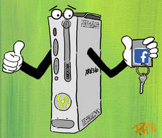 Xbox and Facebook by Phenzyart