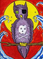 Pirate Owl by Phenzyart