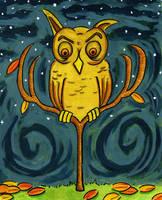 Fall Owl by Phenzyart